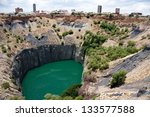 big hole in kimberley  south... | Shutterstock . vector #133577588
