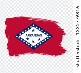 flag of arkansas from brush...