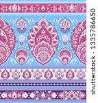 indian rug tribal ornament... | Shutterstock .eps vector #1335786650
