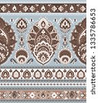 indian rug tribal ornament... | Shutterstock .eps vector #1335786653