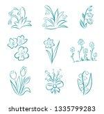 spring and summer flower... | Shutterstock .eps vector #1335799283