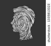 symbol fingerprint head  white... | Shutterstock .eps vector #1335813323