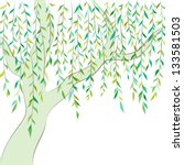 willow tree. graphic design.... | Shutterstock .eps vector #133581503
