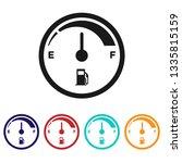 fuel gauge icon.fuel indicator... | Shutterstock .eps vector #1335815159