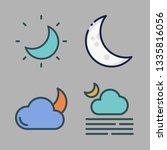 moonlight vector icon set | Shutterstock .eps vector #1335816056