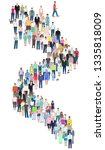 many different people stand in... | Shutterstock .eps vector #1335818009