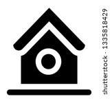 birdhouse glyph vector icon | Shutterstock .eps vector #1335818429