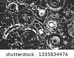 distress old rusted metal... | Shutterstock .eps vector #1335834476
