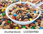 Colorful Trail Mix In A White...