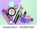 makeup brush and decorative... | Shutterstock . vector #1335857660