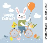 easter holiday cute greeting... | Shutterstock .eps vector #1335859250
