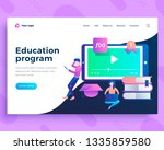 landing page template education ... | Shutterstock .eps vector #1335859580