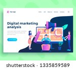 landing page template digital... | Shutterstock .eps vector #1335859589