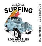 vector surf car illustration... | Shutterstock .eps vector #1335869306