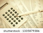 financial accounting pen and...   Shutterstock . vector #1335879386