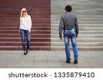 young fashion couple flirting...   Shutterstock . vector #1335879410