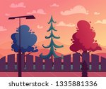 beautiful plants. cartoon... | Shutterstock .eps vector #1335881336