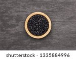 lot of whole black lentils... | Shutterstock . vector #1335884996