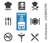 restaurant and cafe icons set... | Shutterstock .eps vector #1335895709