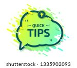 banner with useful quick tips.... | Shutterstock .eps vector #1335902093