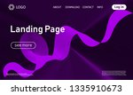 landing page template. abstract ... | Shutterstock .eps vector #1335910673