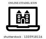 online castle icon. editable...   Shutterstock .eps vector #1335918116
