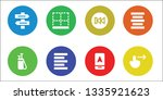 left icon set. 8 filled left... | Shutterstock .eps vector #1335921623
