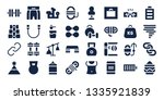 strength icon set. 32 filled... | Shutterstock .eps vector #1335921839