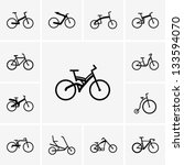 bicycle,bike,design,graphic,icon,pictogram,road,set,silhouette,traffic,transport,vector,vehicle,wheel