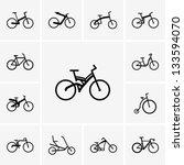 bikes | Shutterstock .eps vector #133594070