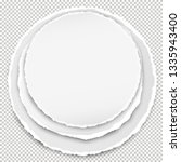 set of blank round paper with... | Shutterstock .eps vector #1335943400