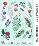 beautiful spring hand drawn... | Shutterstock .eps vector #1335960359