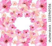 watercolor.wreath of flowers.... | Shutterstock . vector #1335969356