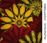 seamless floral background. the ... | Shutterstock .eps vector #1335970883