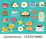 vintage food poster design set... | Shutterstock .eps vector #1335976880