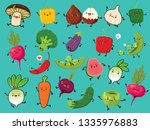 vintage vegetable   fruit... | Shutterstock .eps vector #1335976883