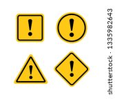 yellow warning dangerous... | Shutterstock .eps vector #1335982643