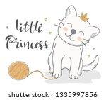 vector illustration of a funny... | Shutterstock .eps vector #1335997856
