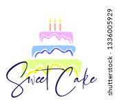 sweet cake icon | Shutterstock .eps vector #1336005929