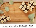 three banana white bread toasts ... | Shutterstock . vector #1336011830