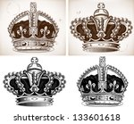 crowns | Shutterstock .eps vector #133601618