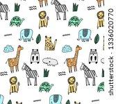 hand drawn pattern background | Shutterstock .eps vector #1336020770
