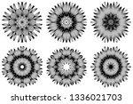 set of pattern of mandala .... | Shutterstock .eps vector #1336021703
