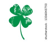 grunge clover four leaf... | Shutterstock .eps vector #1336043753