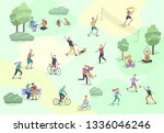 people spending time  relaxing... | Shutterstock .eps vector #1336046246