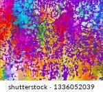 color splash and confetti... | Shutterstock .eps vector #1336052039