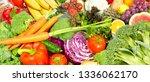 vegetables food background. | Shutterstock . vector #1336062170