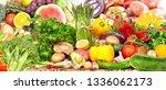 vegetables food background. | Shutterstock . vector #1336062173