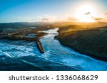 aerial landscape of... | Shutterstock . vector #1336068629