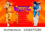 cricket match between india vs... | Shutterstock .eps vector #1336075280